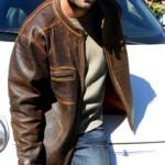 Mens Distressed Leather Cafe Racer Jacket