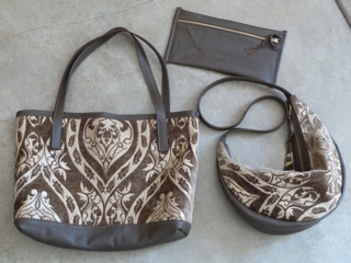 Leather Waves Tote in Tapestry and Leather