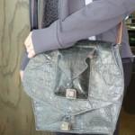 Leather Teardrop Shoulder Bag