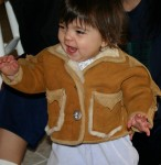 Baby shearling jacket