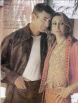 his leather shirt and her vest and pants 2002