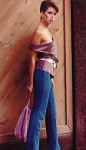 suede blouse and pants with belt and purse 1991
