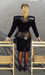 bolero jacket and peplum skirt1992