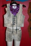 snake print vest and shorts 2003