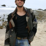 Men's Patchworked Shearling Coat
