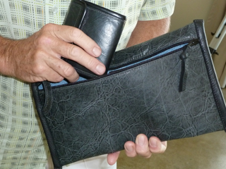 Man's Envelope Pouch/Bag