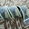 snakeskin leather belt