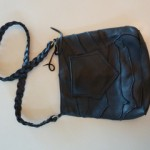 Patchworked Deerskin Boho Bag with Braided Strap