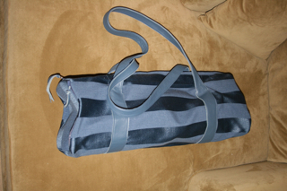 Leather Trimmed Yoga Bag