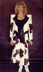 Teri Love's cowhide suit 1991