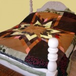 Patchwork Leather Bedspread