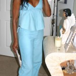 Chamoise Suede Pants and Camisole Tank