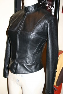 Women's Corset Cafe-Racer Motorcycle Jacket