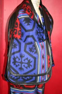 Leather Trimmed Blanket Messenger Bag