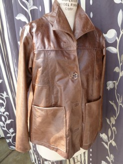 Women's Distressed Leather Jacket