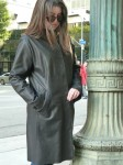 leather long coat