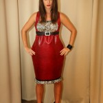 "Valentines Day ""no-animal"" Red Leather Dress"