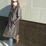 Women's Leather Long Coat
