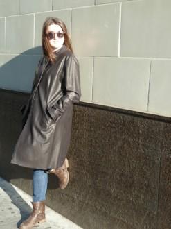 Women's Leather Long Coat