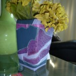 Patchwork Leather Vase