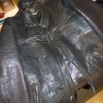 21 washed leather jacket