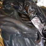 22 washed leather jacket