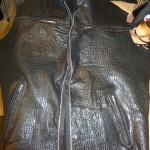 6 washed leather jacket