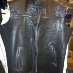 7 washed leather jacket