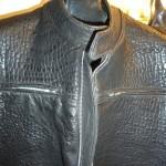 8 washed leather jacket