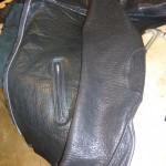 9 washed leather jacket