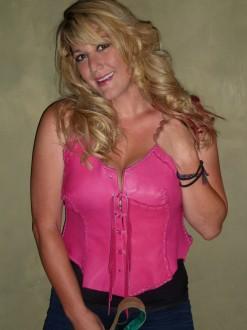 Hot Pink Hand Laced Deerskin Vest