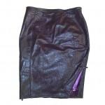 eggplant and purple skirt