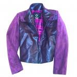 eggplant and purple jacket