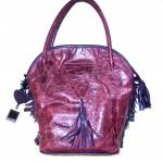 eggplant and purple handbag