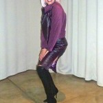 eggplant and purple outfit
