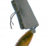 Deerskin and Sable clutch bag