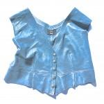 blue denim vest front