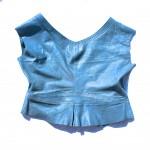 blue denim vest back