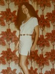 1980 White Leather Blouse and Mini Skirt