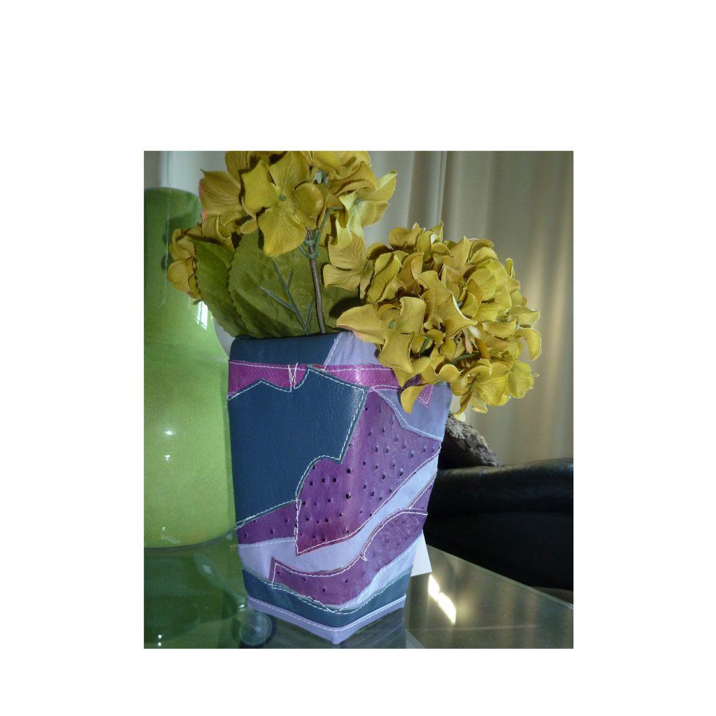 (#94) Leather Vase