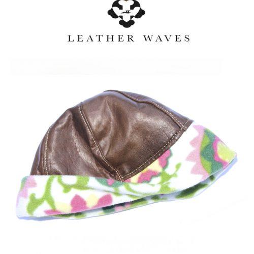 (#9) Leather Skull Cap