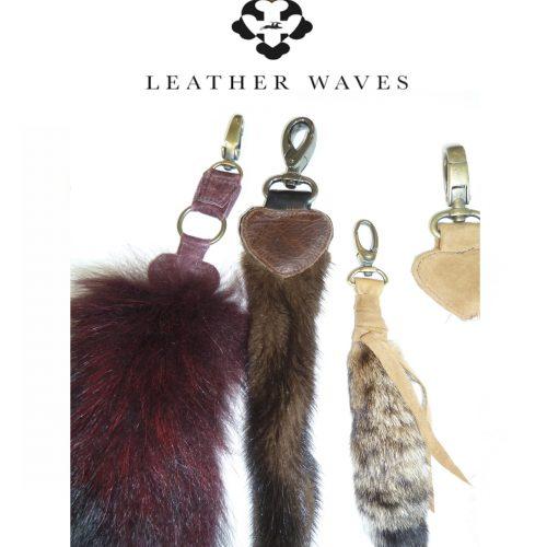 (#32) Fur & Leather Keychains