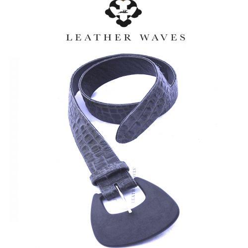 (#0) Belt w/paddle shaped buckle