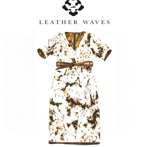 (#45) Faux Cow Fur Dress and Belt