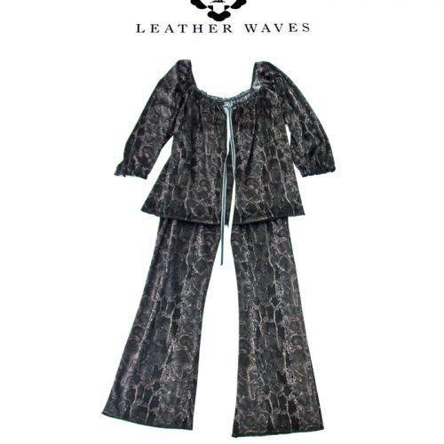 (#33) Snakeskin Velour Pajamas
